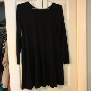 Black dress with lace sleeve detail